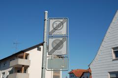 German road sign - stock photo