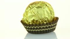Chocolate bonbon - stock footage