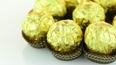 Chocolate bonbons Stock Footage