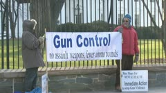 Gun Control Protest at White House Stock Footage