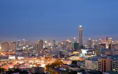 bangkok skylines building - stock photo