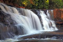 tropical tadtone waterfall in rain forest in chaiyaphum north east of thaland - stock photo