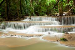 Tropical climate waterfall Stock Photos