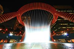 singapore fountain of wealth - stock photo