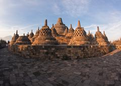 architecture borobudur temple - stock photo