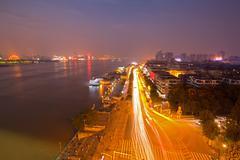 Wuhan hubei china at dusk Stock Photos