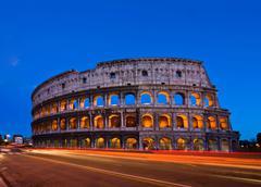 Colosseum rome italy night Stock Photos