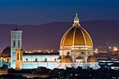 cathedral of florence duomo - stock photo