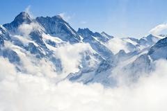 Stock Photo of jungfraujoch alps mountain landscape