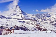 Stock Photo of the swiss alps matterhorn