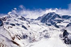 ski path at matterhorn switzerland - stock photo