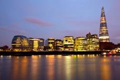 london city hall skylines - stock photo