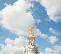 queen victoria memorial monument - stock photo