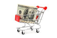 Money shopping Stock Photos
