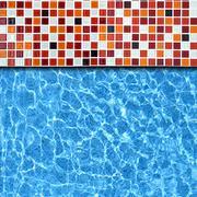 Mosaic pool background Stock Photos