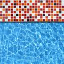 Stock Photo of mosaic pool background