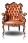 brown armchair - stock photo