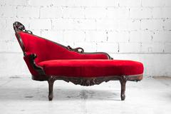 modern red sofa - stock photo