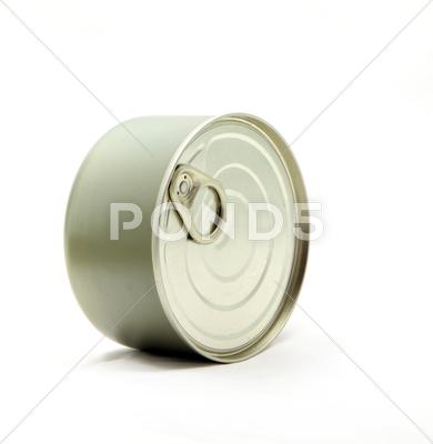 Stock photo of metal can
