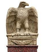Antique statue - eagle with a sword Stock Photos