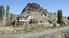 Fortress on the rock in Kars Stock Footage