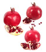 pomegranate fruit and seeds - stock photo