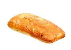 olive ciabatta bread loaf - stock photo