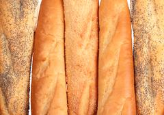 french loaves - stock photo
