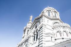 cathedral notre-dame-de-la-ga rde in marseille, france, europe - stock photo