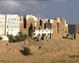 "Stock Video Footage of YEMEN Shibam ""Manhattan of the Desert"" buildings pan"