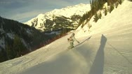 Snowboarder show off Stock Footage