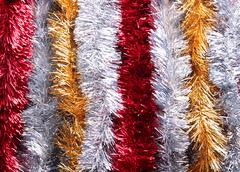 shiny new year tinsels - stock photo