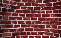 Oval old red brick wall Stock Photos