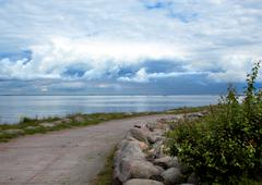 baltic sea coast - stock photo