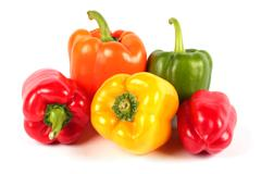 fresh  sweet peppers - stock photo