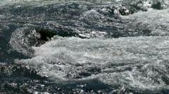 Rapids (Whitewater) on the Niagara river, near Niagara falls. Stock Footage