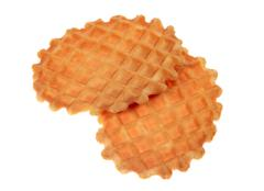 Two waffle cookies Stock Photos
