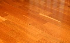 oak parquet - stock photo