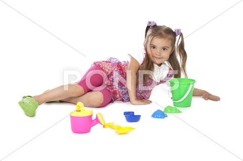 Stock photo of small baby girl