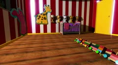 Kids room with toys - Glow/Sparkley look version Stock Footage