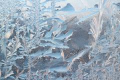 Frosty pattern background Stock Photos