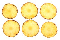 Fresh pineapple slices Stock Photos