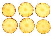 Stock Photo of fresh pineapple slices