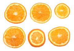 Fresh orange slices Stock Photos