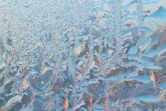 frosty pattern background - stock photo