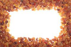 frame of raisins - stock photo