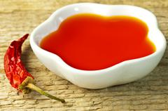chili oil - stock photo