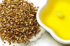 flax-seed oil - stock photo