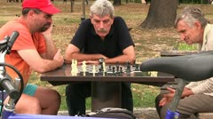 Chess players Stock Footage