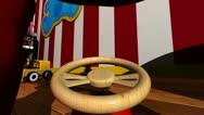 Kids car ride through playroom (looped) Stock Footage